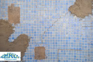 Structural pool cracks