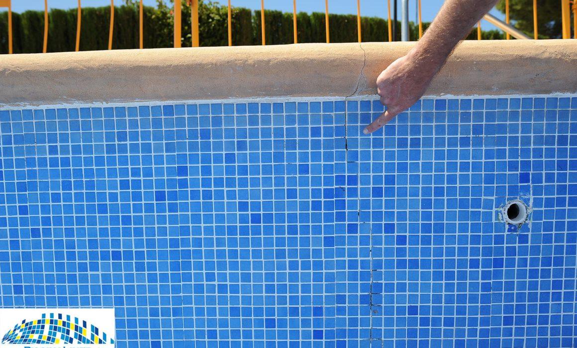 Crack in wall of pool, leaking