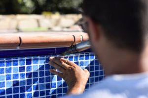 Welding top of pool liner