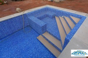 Steps in a liner pool, Benalmadena Pueblo