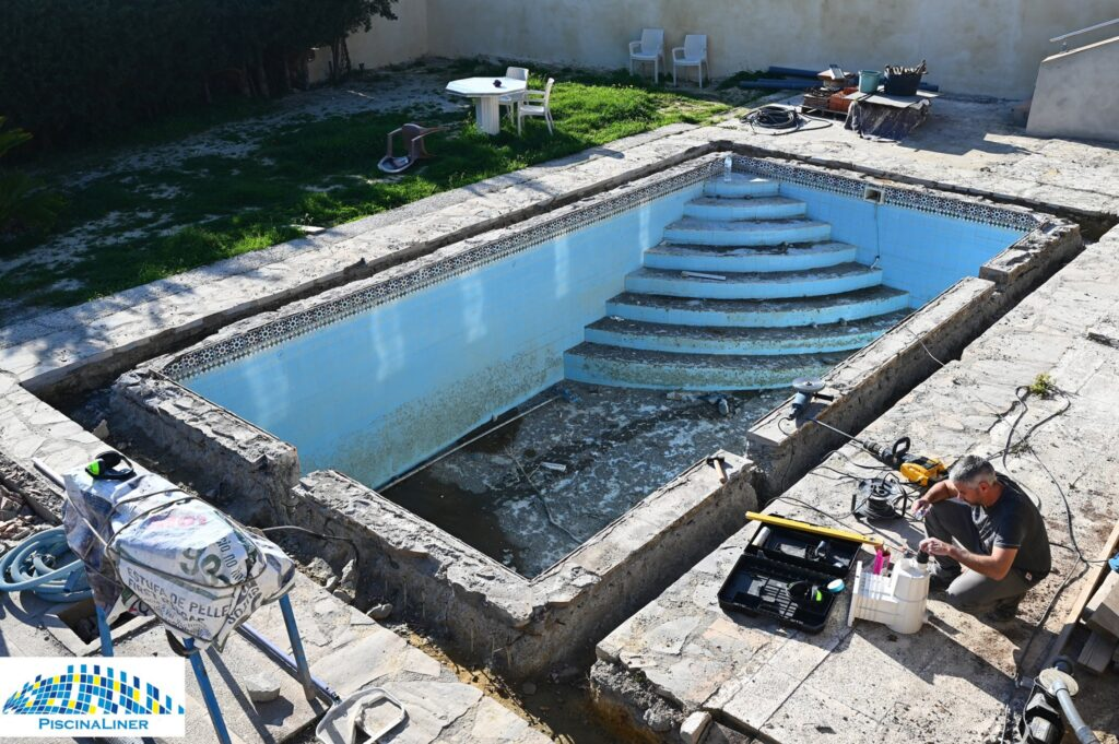Installation of all new pool pipes