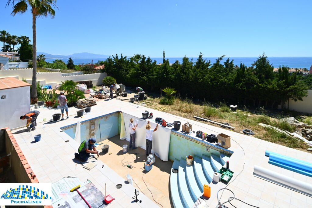 Swimming pool renovation works, Estepona