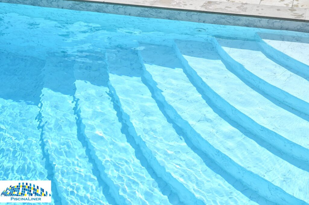 Marble swimming pool liner