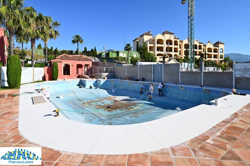 Pool liner installations, Malaga