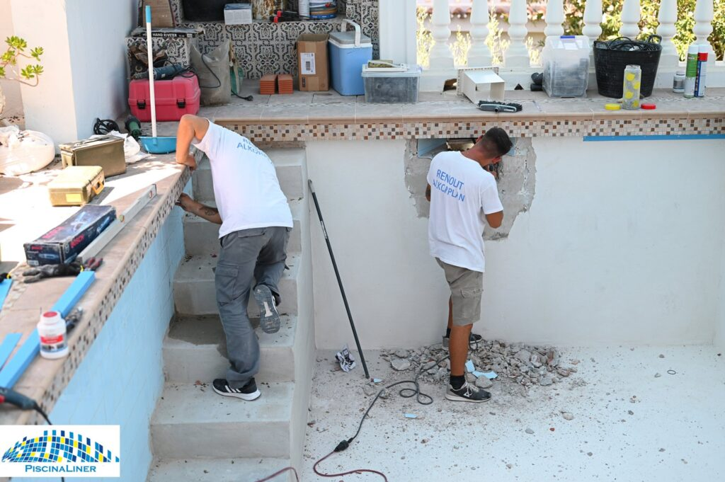 Swimming pool repair, Torreblanca