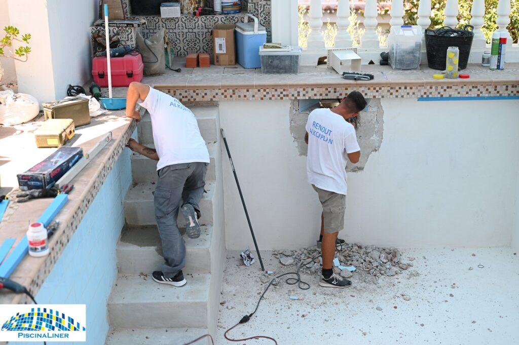Swimming pool repair, Torreblanca