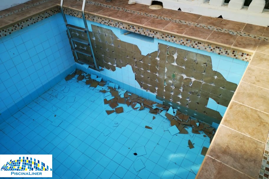 Tiles popping off pool