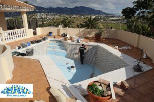Before pool reform, Mijas