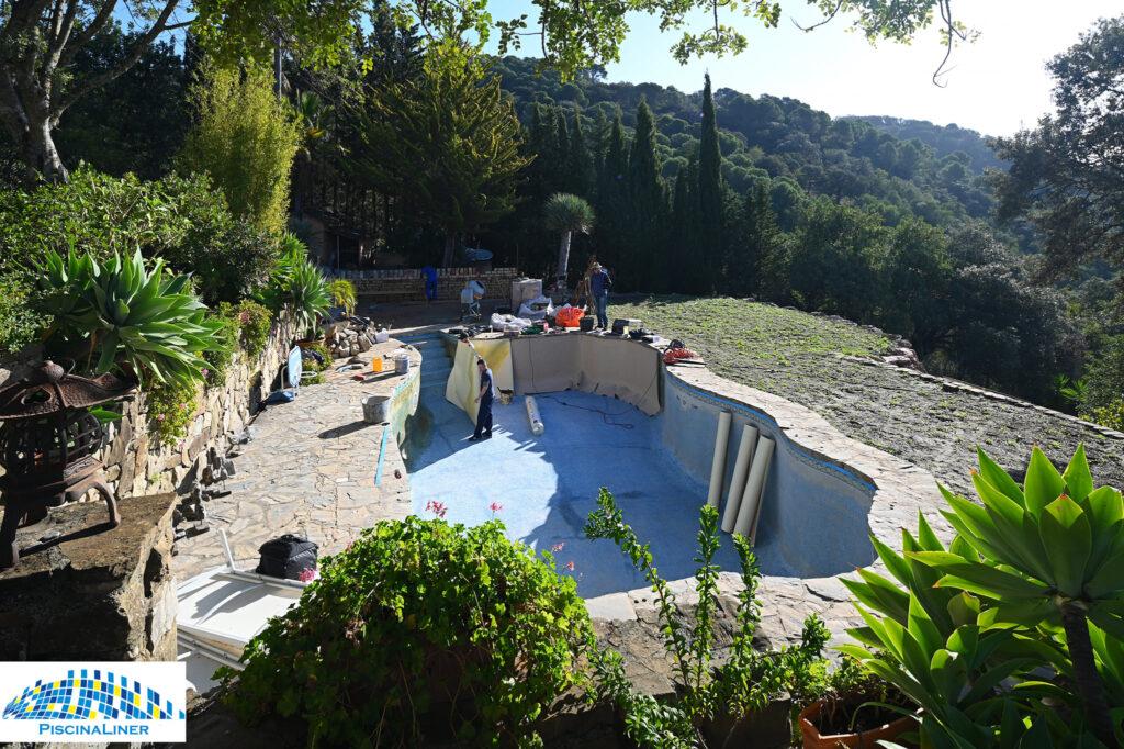 Pool repairs, Gaucin, Malaga