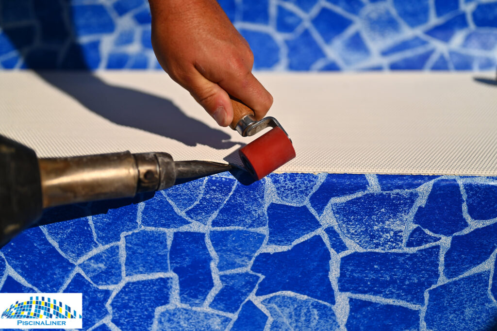 Heat welded pool liner