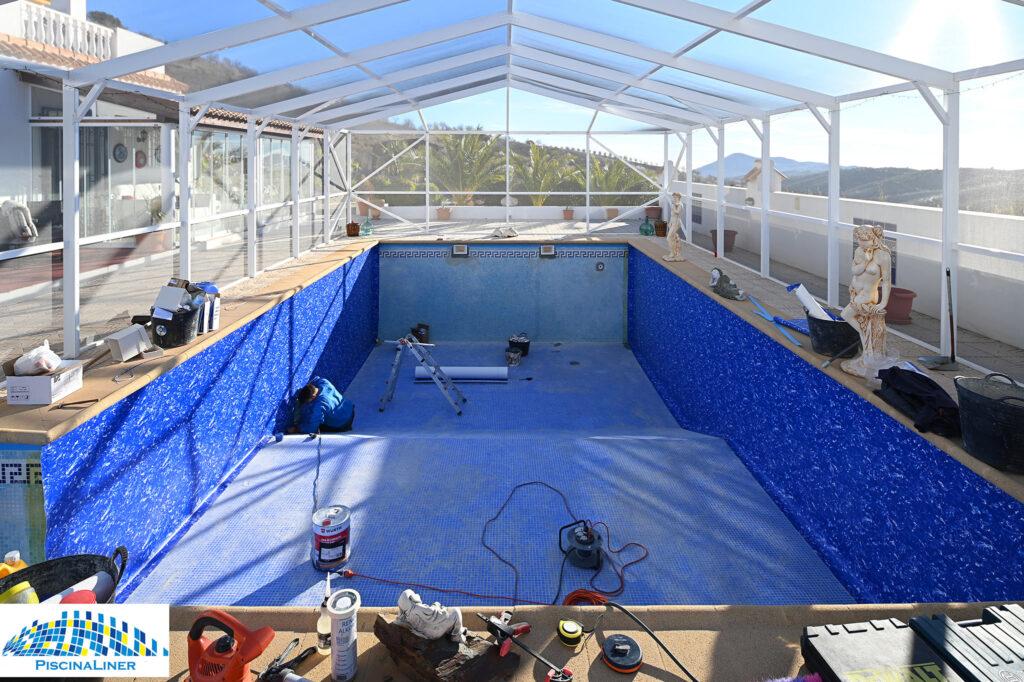 Almeria reinforced pool lining