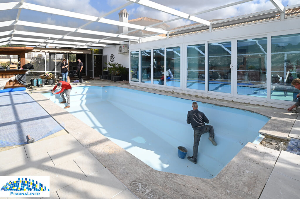 Fibreglass pool refinishing