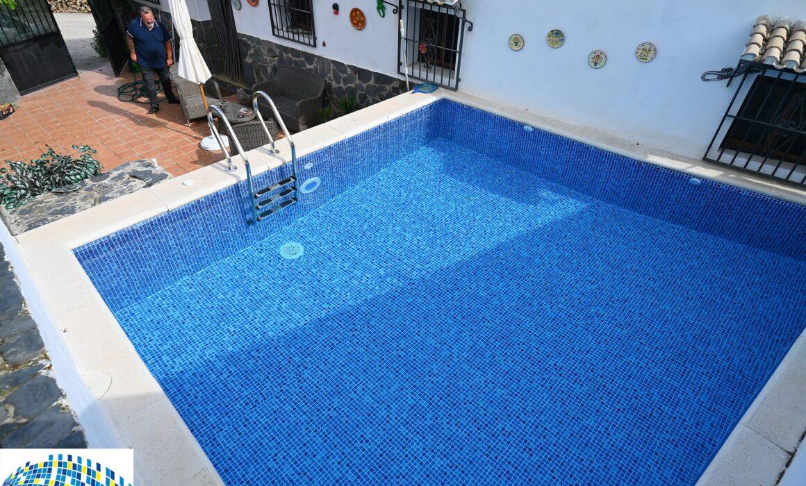 Renolit pool liner, Painted pool