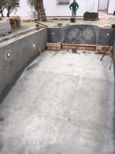 Construcion de piscina, Barbate, Cadiz