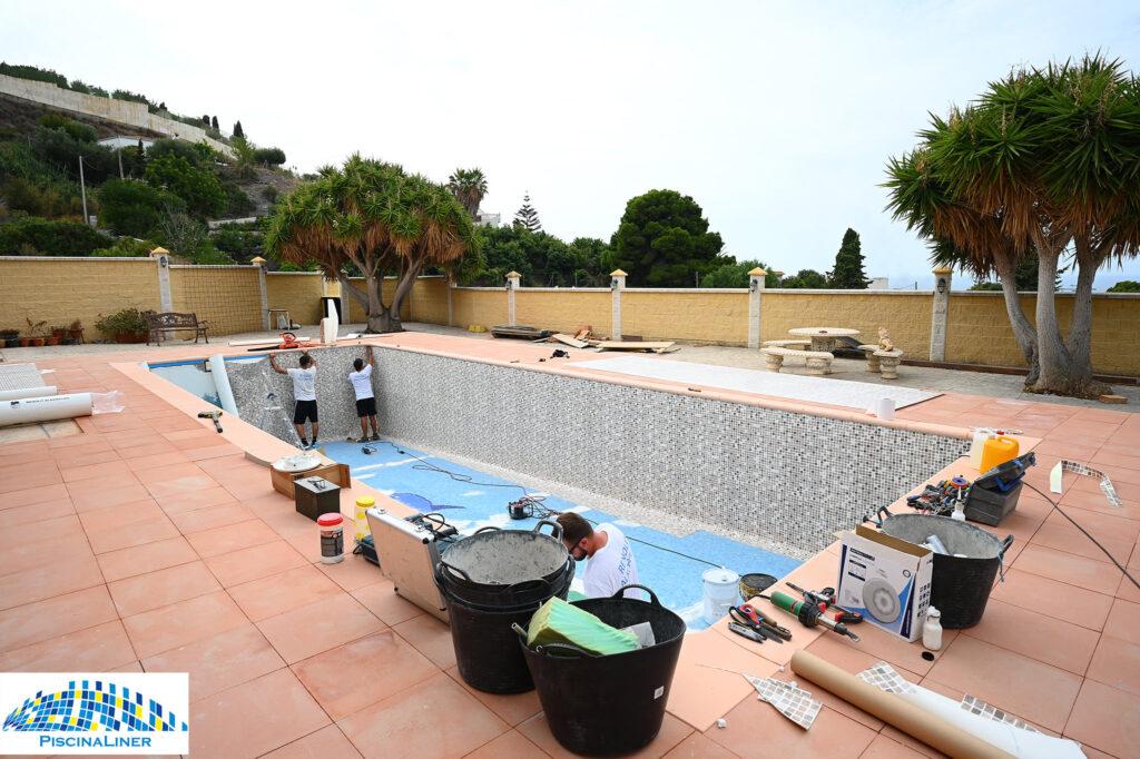 Swimming pool leak and crack repair, Motril