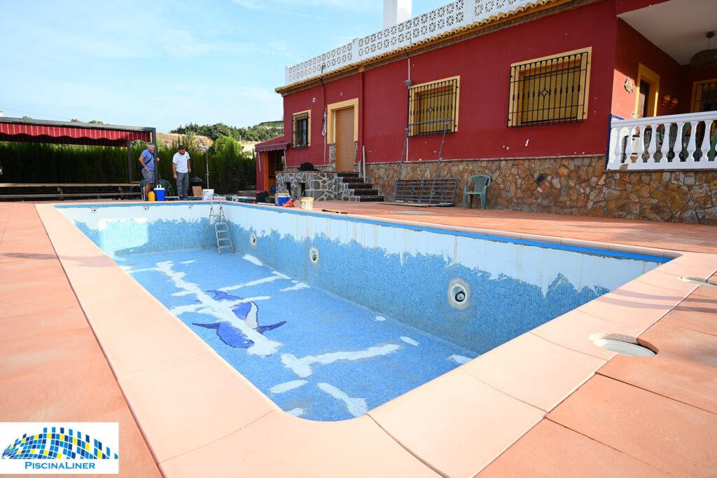 Repairing a tipped pool