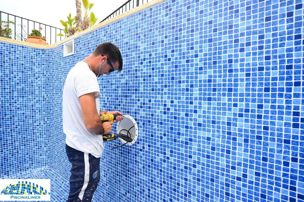 Earthquake damaged pool repairs, Mojacar