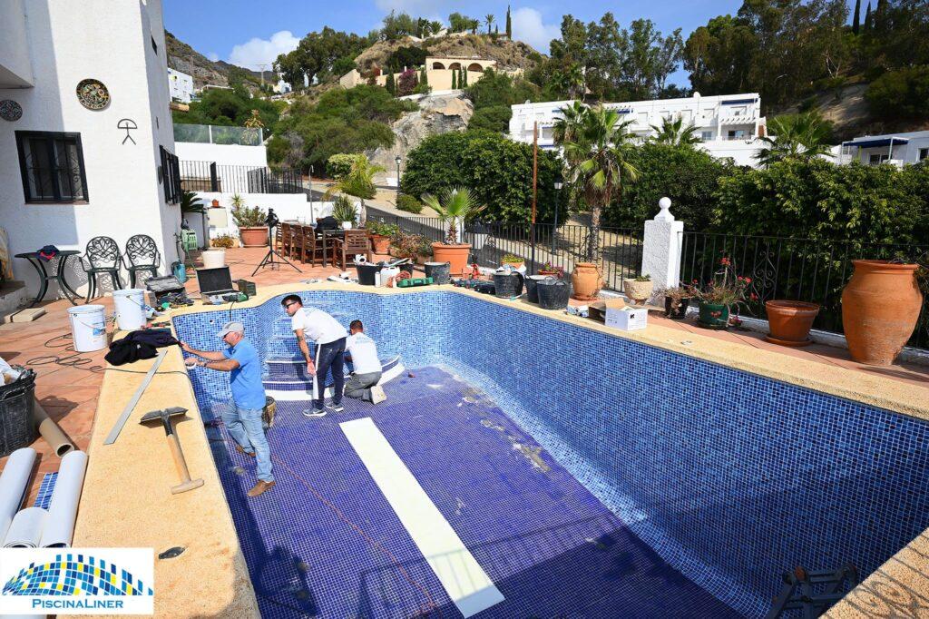Cracked pool repair, Almeria