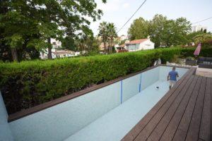 Fugas en vaso de piscina, Marbella