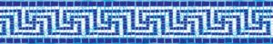Mosaic pool border