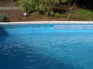 Swimming pool border. Prefabricated pool