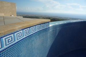 Tiled pool, Spain, new border