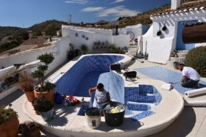 Leaking swimming pool repair, Almeria