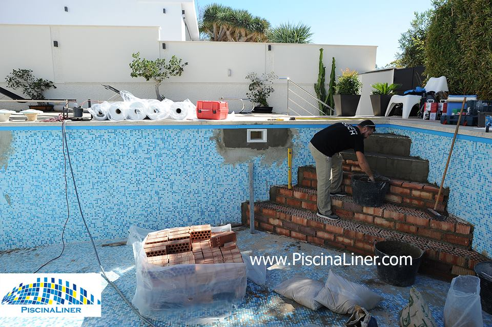 Constructing pool steps