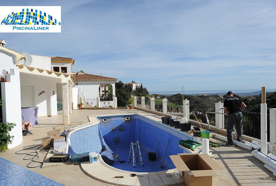 Pool Liner installation, Bedar, Almeria