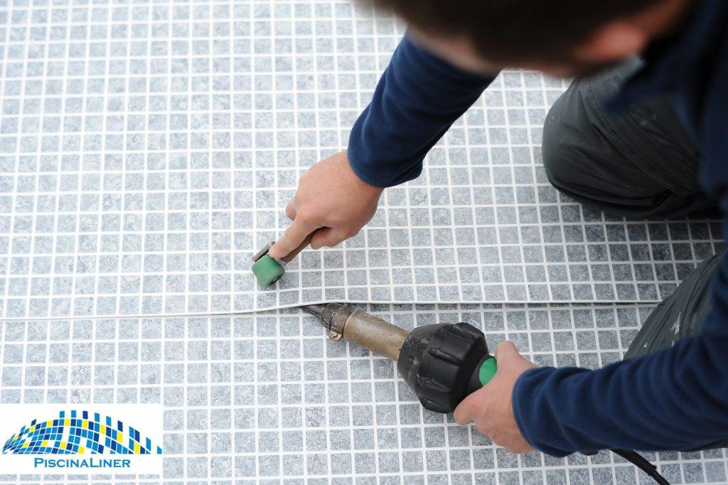 Reinforced Renolit Pool membrane installation