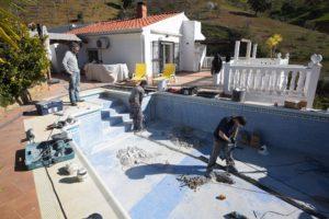 Reperacion de piscina, Casarabonela, Malaga