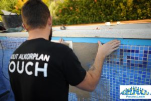 Installation of Renolit Swimming Pool liner, Benalmadena