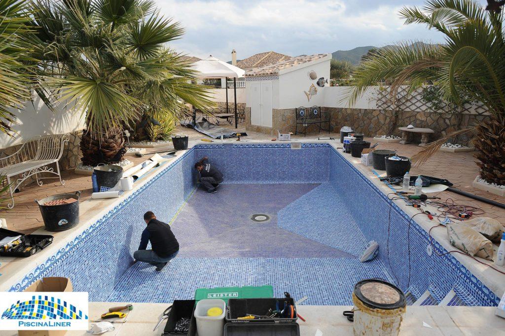 Cracked pool repair, Zurgena