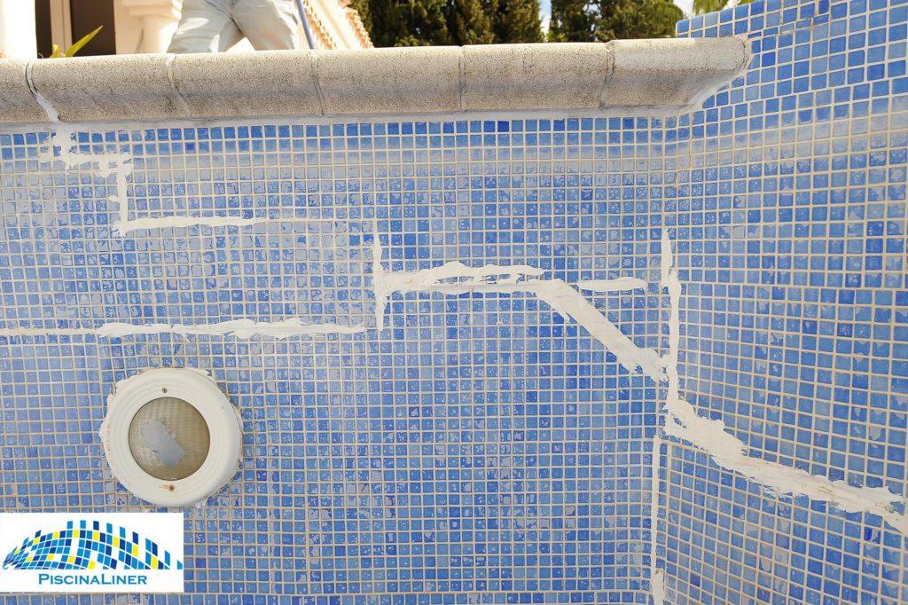 Leaking pool due to cracks