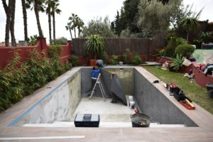 Reformando la piscina, Rincon de la Victoria