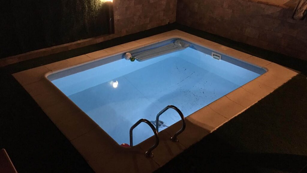 Pool lights DIY installation