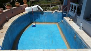 Pool in need repair, Benalmadena