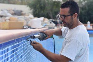 Heat welding the liner