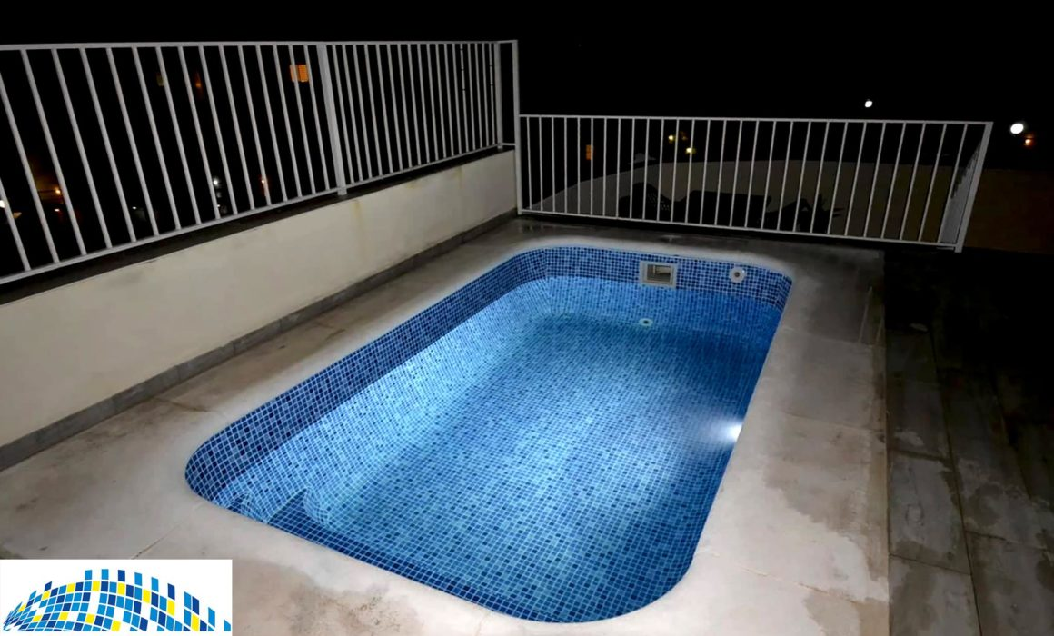 Renovated rooftop plunge pool