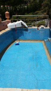 Repair to cracked pool