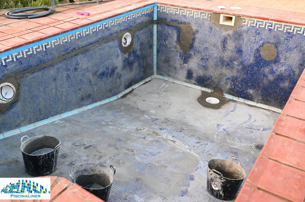 Pool with missing tiles