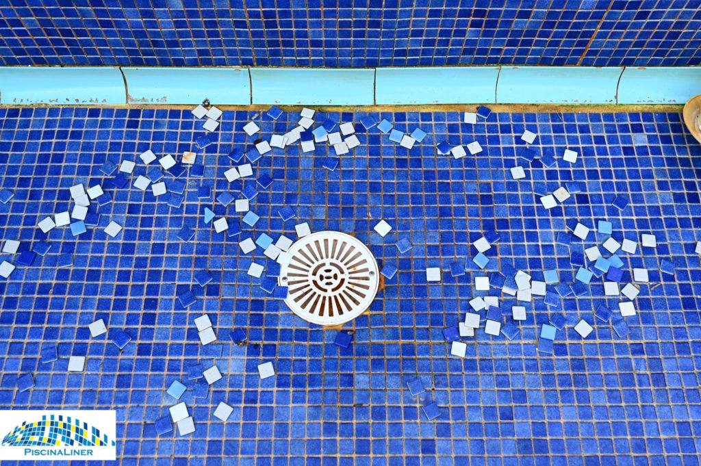 Gresite tiles missing in pool