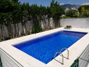 Newly lined swimming pool, Fuengirola, Malaga