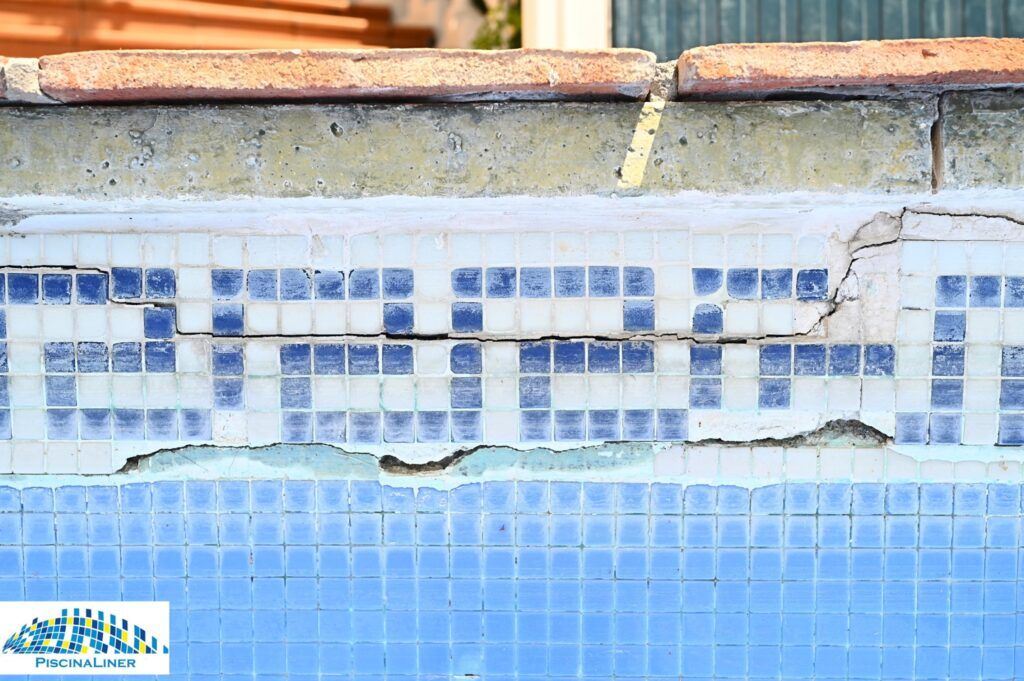 Cracked swimming pool