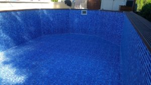 New liner, wooden pool
