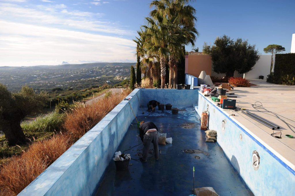 Micro cement pool finish, Sotogrande