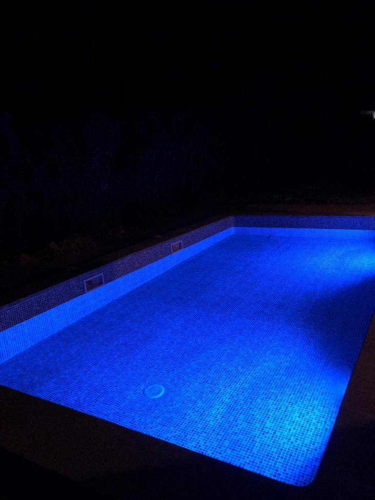 Coloured LED pool lights