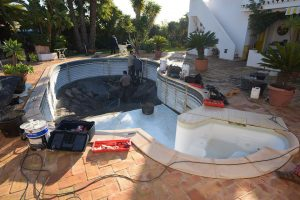 Replacement liner waterair pool albufeira algarve for Liner waterair