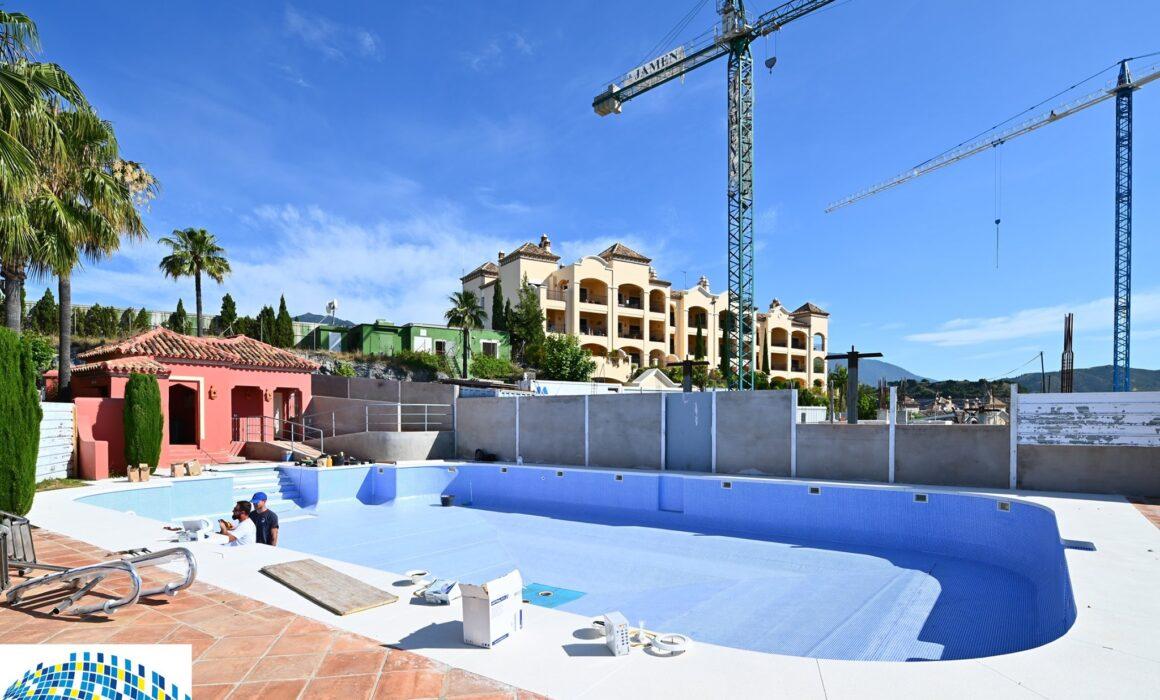 Benahavis pool renovation works